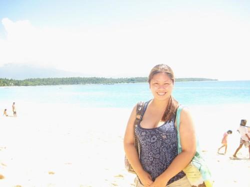 Ria Jose in Dahican Beach, Mati, Davao Oriental