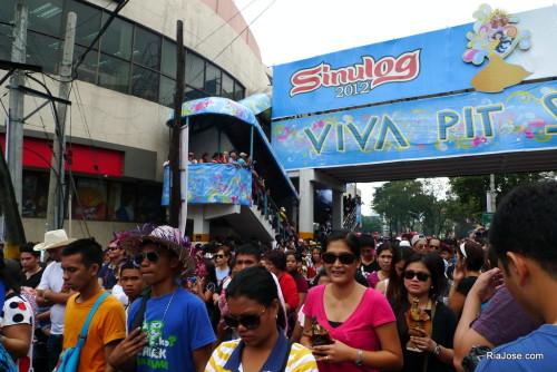 The Sinulog Crowd of Santo Nino Devotees