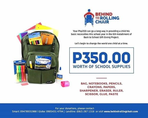 Behind the Rolling Chair's Back to School Program